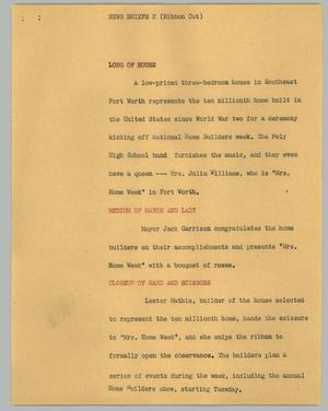Primary view of object titled '[News Script: (Ribbon Cut)]'.