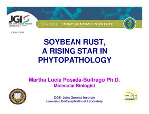 Primary view of object titled 'Soybean Rust, A Rising Star in Phytopathology'.