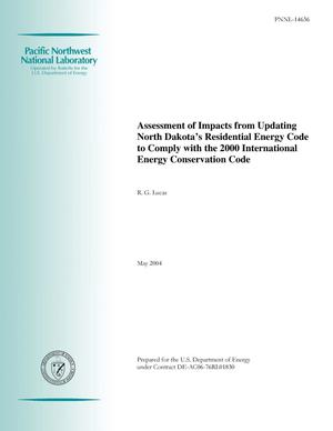Primary view of object titled 'Assessment of Impacts from Updating North Dakota's Residential Energy Code to Comply with the 2000 International Energy Conservation Code'.