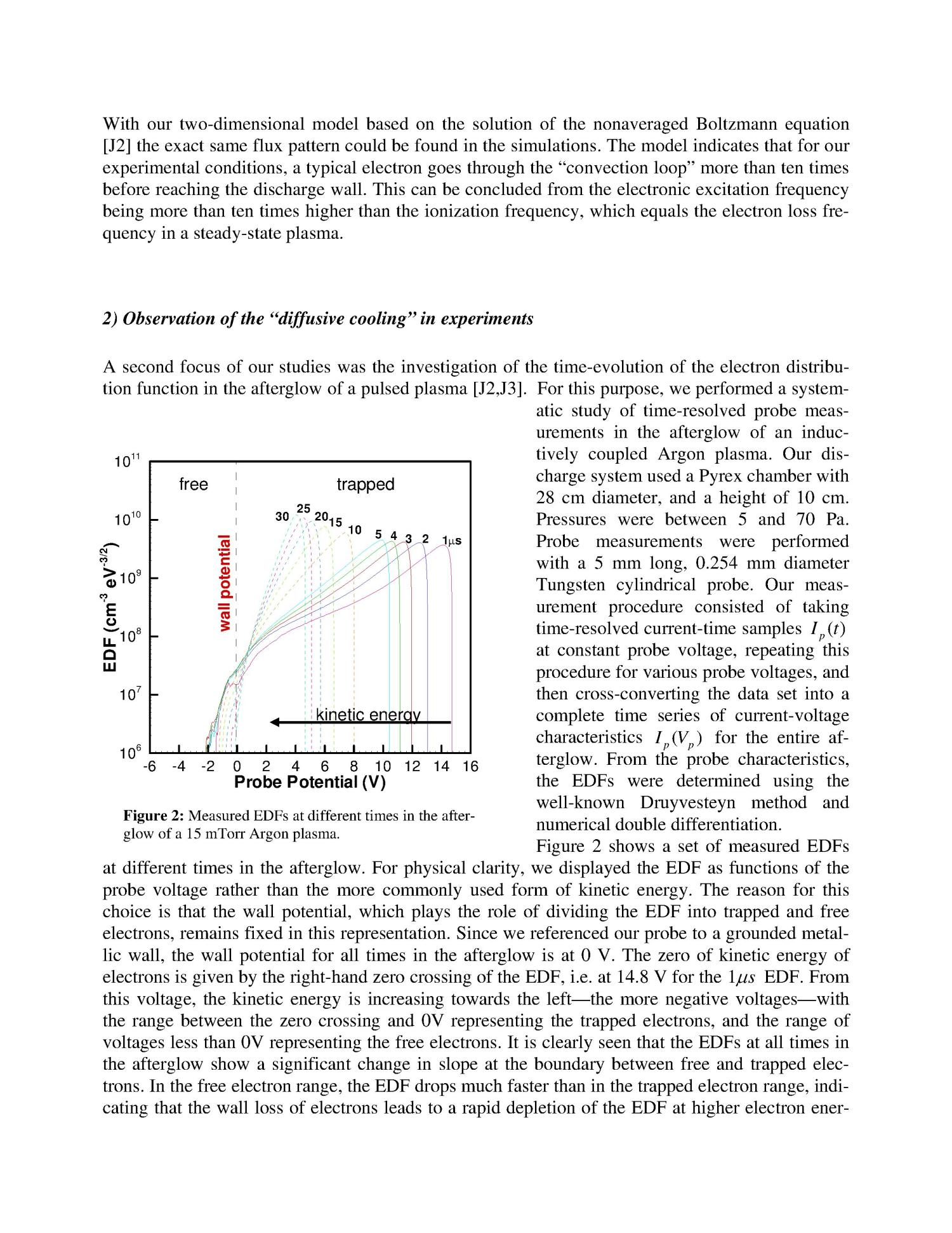 Final Report for Award DE-FG02-99ER54554 Kinetics of Electron Fluxes in Low-Pressure Nonthermal Plasmas                                                                                                      [Sequence #]: 3 of 6
