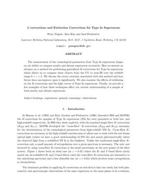 Primary view of object titled 'K-corrections and extinction corrections for Type Ia supernovae'.