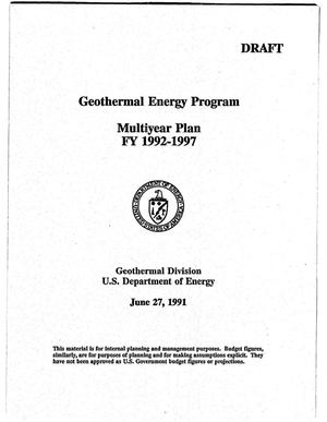 Primary view of object titled 'Geothermal Energy Program: Multiyear Plan, FY 1992-1997'.