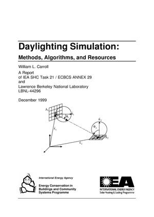 Primary view of object titled 'Daylighting simulation: methods, algorithms, and resources'.