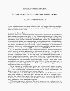 Primary view of object titled 'Exploring medium effects on the nuclear force'.