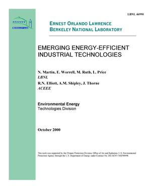 Primary view of object titled 'Emerging energy-efficient industrial technologies'.