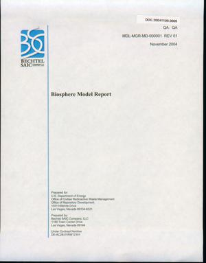 Primary view of object titled 'Biosphere Model Report'.