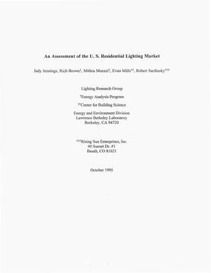 Primary view of object titled 'An Assessment of the U.S. Residential Lighting Market'.
