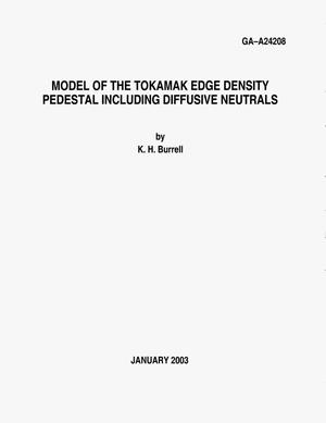 Primary view of object titled 'MODEL OF THE TOKAMAK EDGE DENSITY PEDESTAL INCLUDING DIFFUSIVE NEUTRALS'.