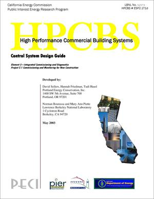 Primary view of object titled 'Control system design guide'.