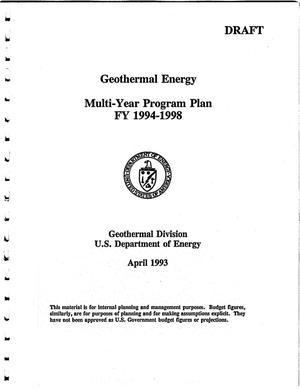 Primary view of object titled 'Geothermal Energy Multi-Year Program Plan, FY 1994-1998'.