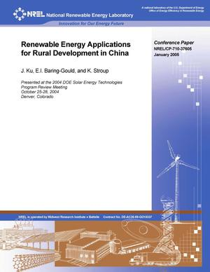 Primary view of object titled 'Renewable Energy Applications for Rural Development in China'.