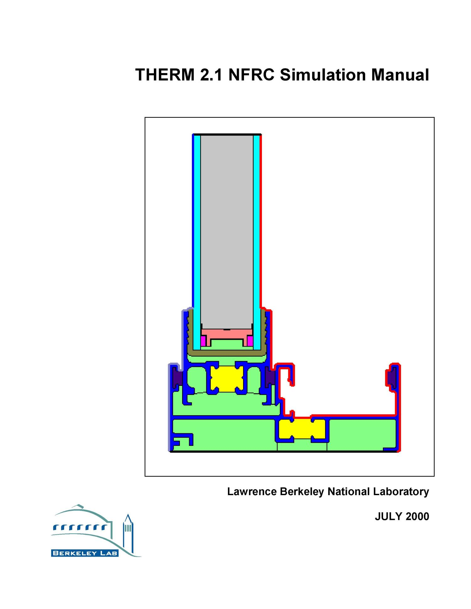 THERM 2.1 NFRC simulation manual                                                                                                      [Sequence #]: 1 of 260