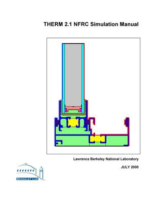Primary view of object titled 'THERM 2.1 NFRC simulation manual'.