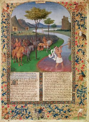Primary view of Julius Caesar (100-44 BC) Crossing the Rubicon c.1470  (detail)