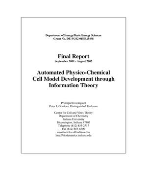 Primary view of object titled 'Automated Physico-Chemical Cell Model Development through Information Theory'.