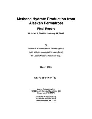 Primary view of object titled 'METHANE HYDRATE PRODUCTION FROM ALASKAN PERMAFROST'.