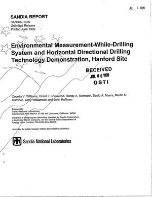 Primary view of object titled 'Environmental Measurement-While-Drilling System and Horizontal Directional Drilling Technology Demonstration, Hanford Site'.