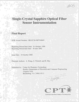 Primary view of object titled 'SINGLE-CRYSTAL SAPPHIRE OPTICAL FIBER SENSOR INSTRUMENTATION'.