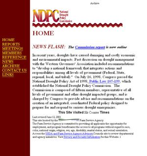 Primary view of object titled 'NDPC (National Drought Policy Commission) Home'.