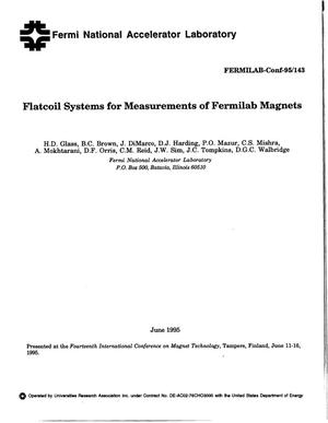 Primary view of object titled 'Flatcoil systems for measurements of Fermilab magnets'.