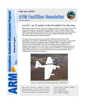 Primary view of object titled 'Atmospheric Radiation Measurement program facilities newsletter, February 2004.'.