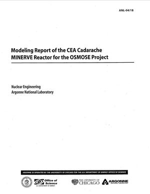 Primary view of object titled 'Modeling report of the CEA cadarache MINERVE reactor for the OSMOSE project.'.