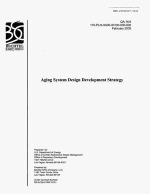Primary view of object titled 'AGING SYSTEM DESIGN DEVELOPMENT STRATEGY'.