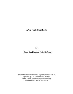 Primary view of object titled 'AAA fuels handbook.'.