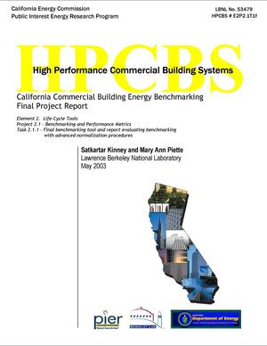 Primary view of object titled 'California commercial building energy benchmarking'.