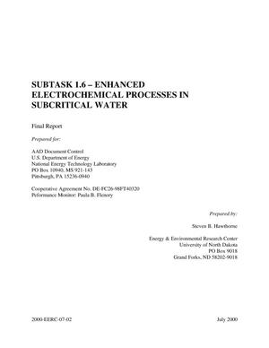 Primary view of object titled 'ENHANCED ELECTROCHEMICAL PROCESSES IN SUBCRITICAL WATER'.