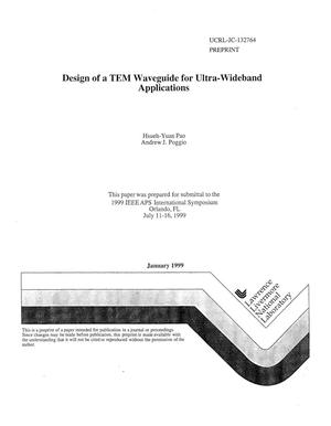 Primary view of object titled 'Design of a TEM waveguide for ultra-wideband applications'.