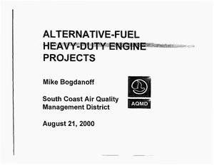 Primary view of object titled 'Alternative-Fuel Heavy-Duty Engine Projects'.