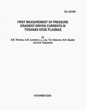 Primary view of object titled 'FIRST MEASUREMENT OF PRESSURE GRADIENT-DRIVEN CURRENTS IN TOKAMAK EDGE PLASMAS'.
