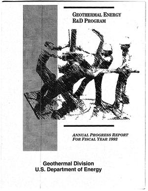 Primary view of object titled 'Geothermal Energy R&D Program Annual Progress Report for Fiscal Year 1992'.