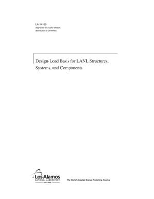 Primary view of object titled 'Design-Load Basis for LANL Structures, Systems, and Components'.