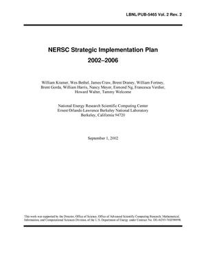 Primary view of object titled 'NERSC Strategic Implementation Plan 2002-2006'.