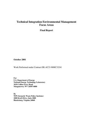 Primary view of object titled 'TECHNICAL INTEGRATION ENVIRONMENTAL MANAGEMENT FOCUS AREAS'.