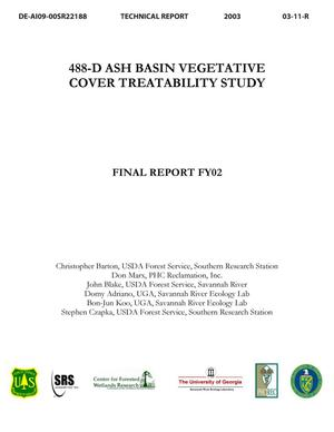 Primary view of object titled '488-D Ash Basin Vegetative Cover Treatibility Study'.