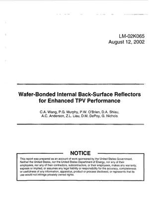 Primary view of object titled 'Wafer-Bonded Internal Back-Surface Reflectors for Enhanced TPV Performance'.