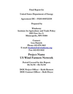 Primary view of object titled 'US Wind Farmers Network'.