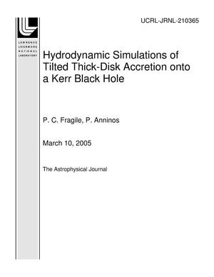 Primary view of object titled 'Hydrodynamic Simulations of Tilted Thick-Disk Accretion onto a Kerr Black Hole'.
