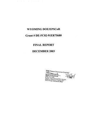 Primary view of object titled 'Wyoming DOE EPSCoR'.