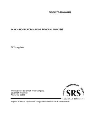 Primary view of object titled 'Tank 5 Model for Sludge Removal Analysis'.