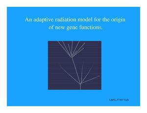 Primary view of object titled 'An adaptive radiation model for the origin of new gene functions'.