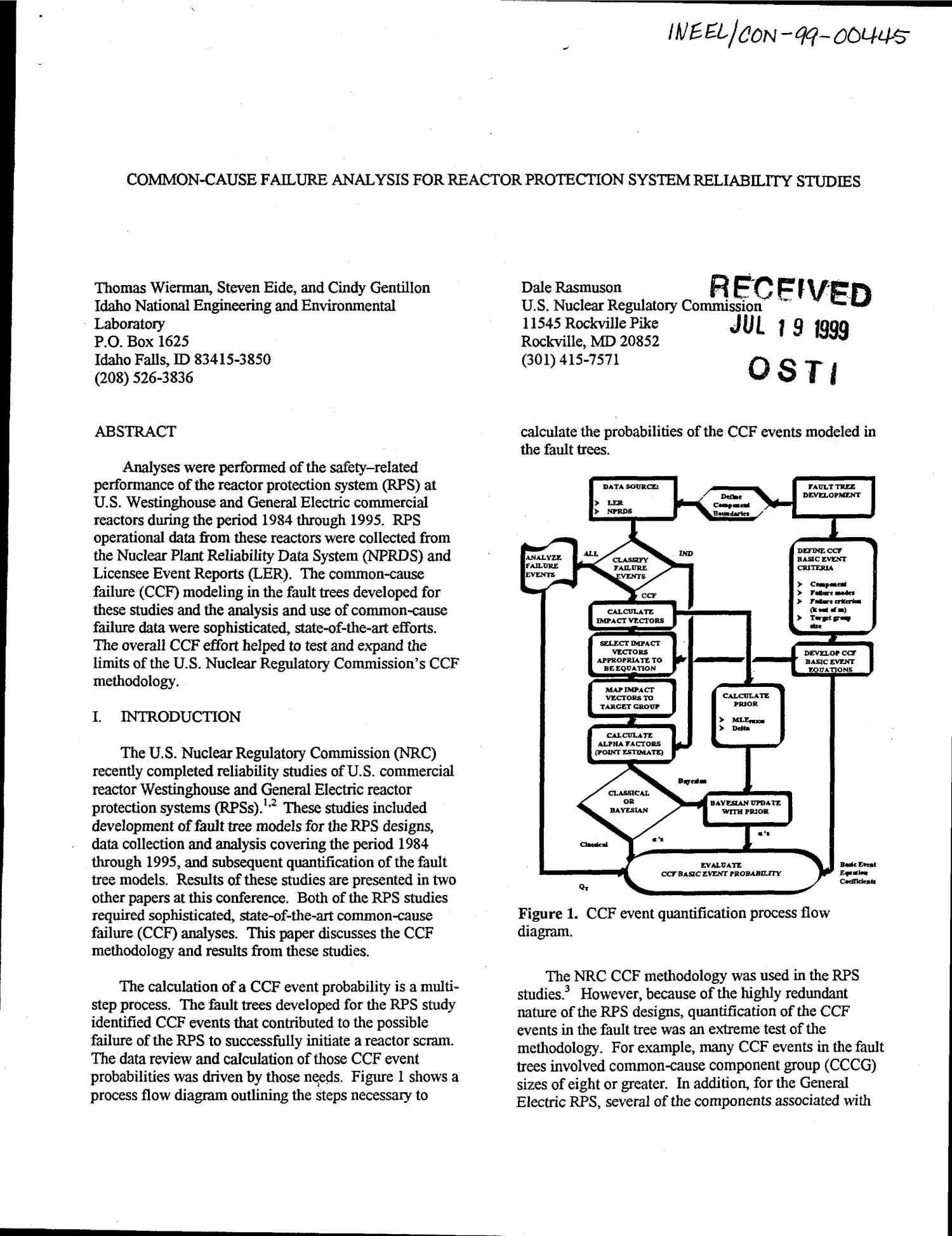 Common Cause Failure Analysis For Reactor Protection System Process Flow Diagram Reliability Studies Digital Library