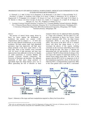 Primary view of object titled 'Progress in heavy ion drivers inertial fusion energy: From scaled experiments to the integrated research experiment'.
