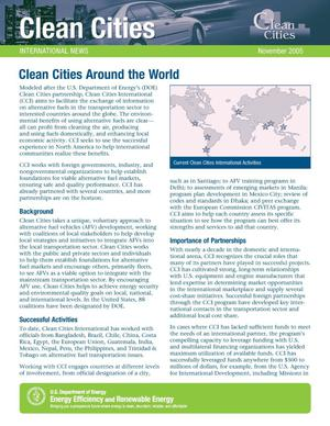 Primary view of object titled 'Clean Cities Around the World'.