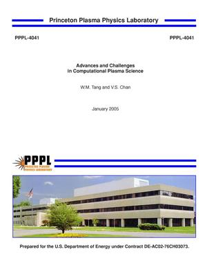 Primary view of object titled 'Advances and Challenges in Computational Plasma Science'.