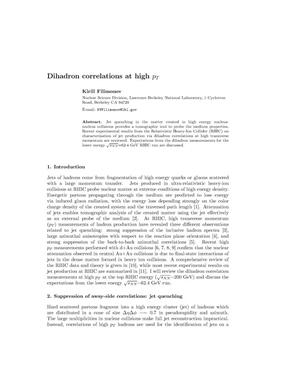Primary view of object titled 'Dihadron correlations at high pT'.