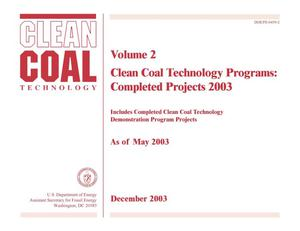 Primary view of object titled 'Clean Coal Technology Programs: Completed Projects (Volume 2)'.